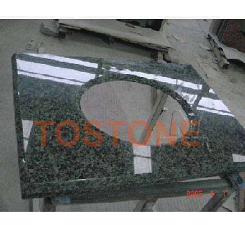 China green bathroom granite vanity top