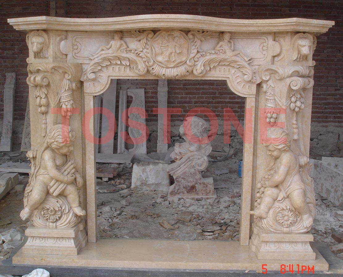 Marble fireplace mantel : China granite, Marble, countertops ...