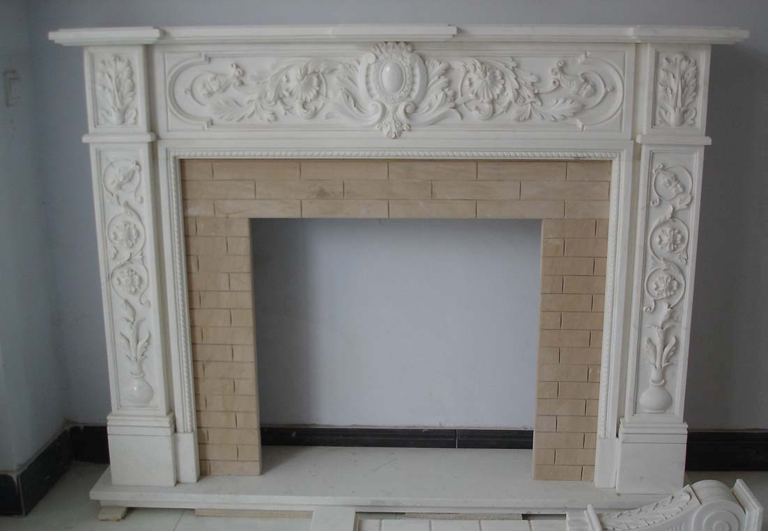 Marble fireplace surround-DSC04367