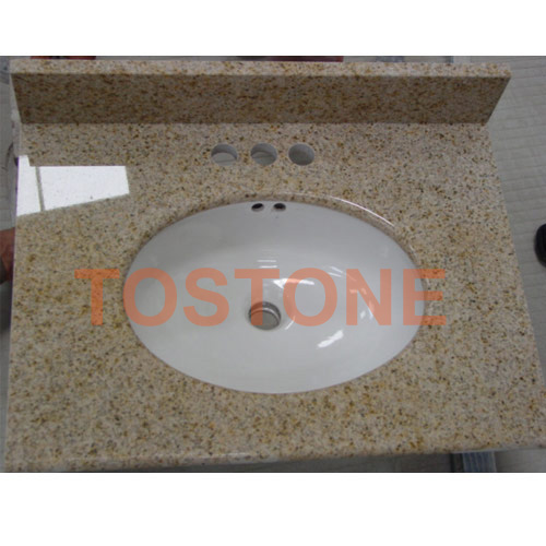 Golden Beach Bathroom Granite Vanity Tops