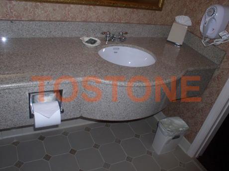 Golden Peach Hotel Granite Vanity Tops