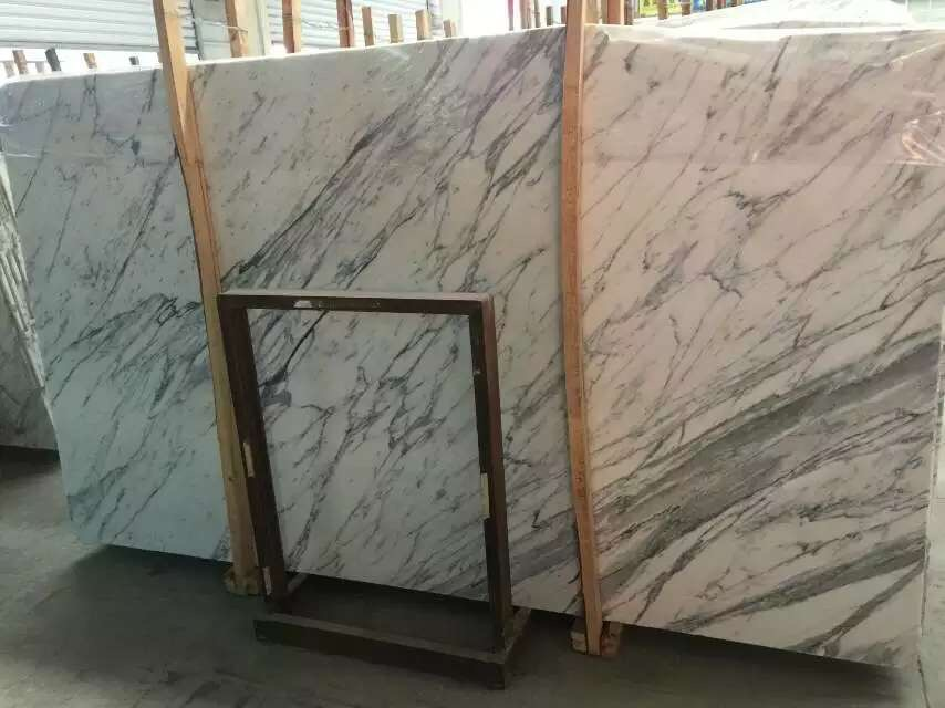 Italy Carrara White Marble Slabs