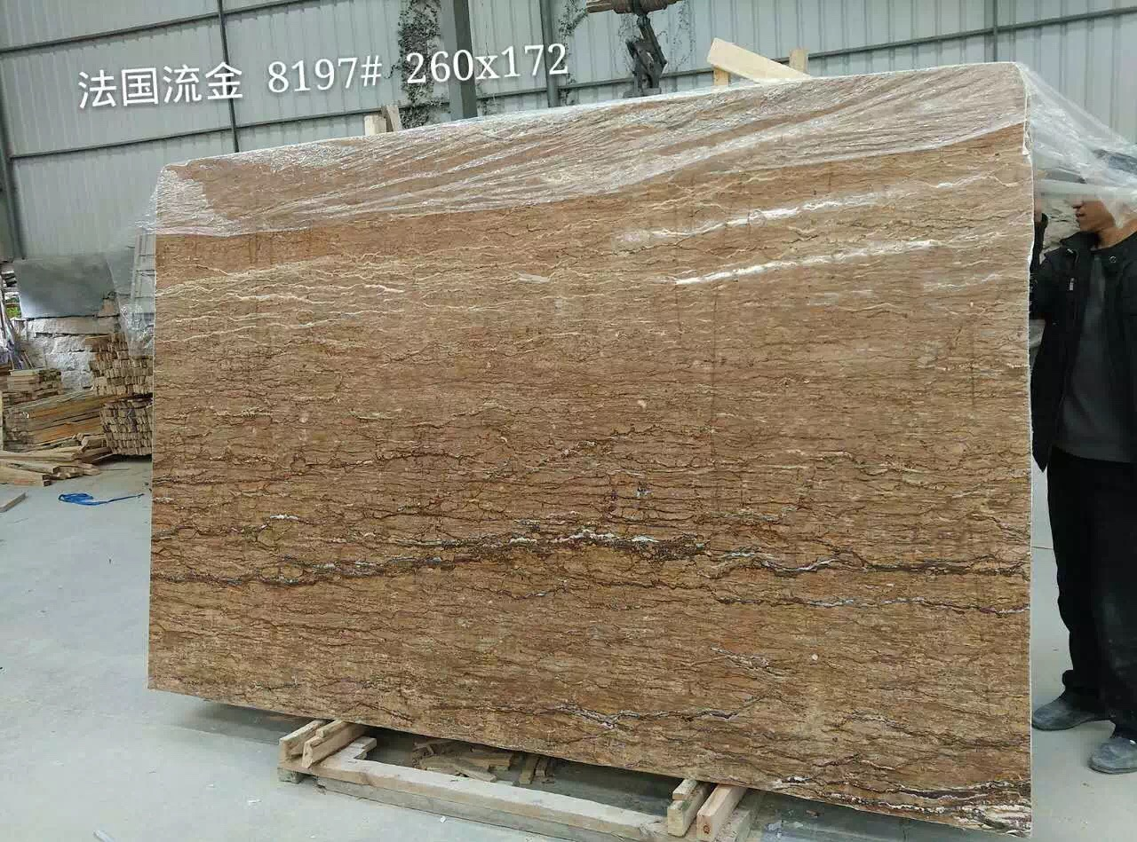 Red Cream Travertine Marble Slabs