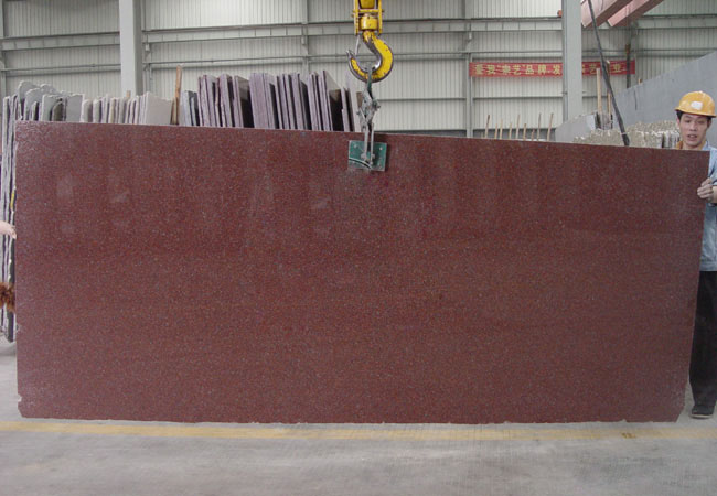 Indian Red Granite Slab-A-India