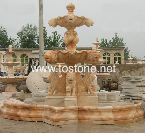 Red China Marble Fountain-NS-004