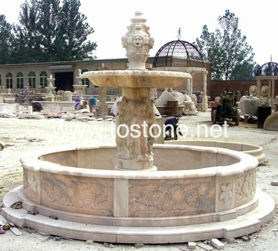 China Carving Marble Fountain-NS-009