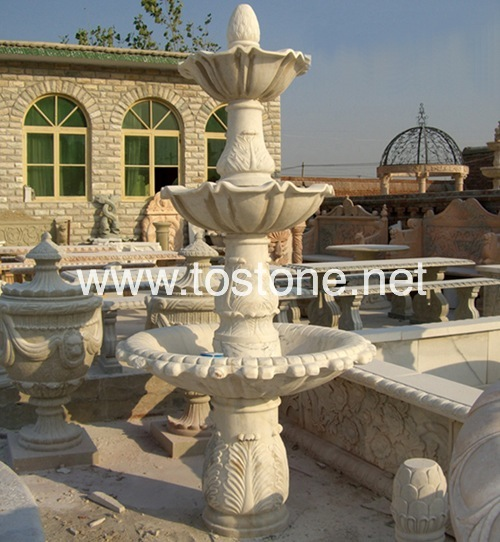China White Marble Fountain-NS-014