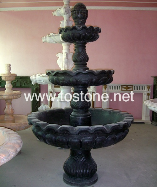 Black Marble Carving Fountain-NS-019