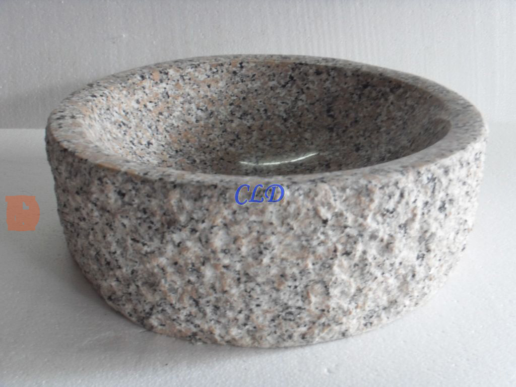 YF048Chiselled-Granite Sink