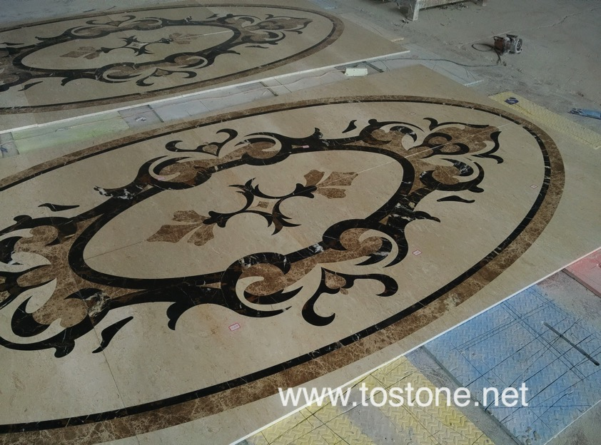 water jet medallions for floors